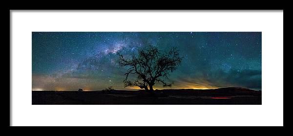 Tranquility Framed Print featuring the photograph Atacama Desert Night Sky by Adhemar Duro