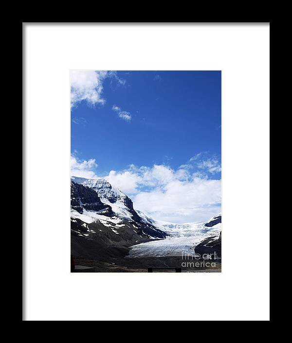 Athabasca Framed Print featuring the photograph Athabascar Glacier by Brenda Kean