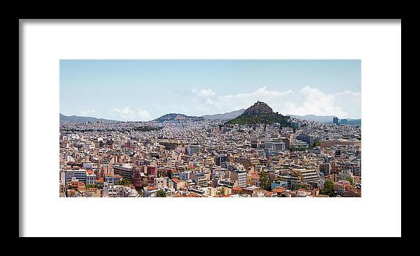 Greek Culture Framed Print featuring the photograph Athens Panorama View From The Acropolis by Ed Freeman
