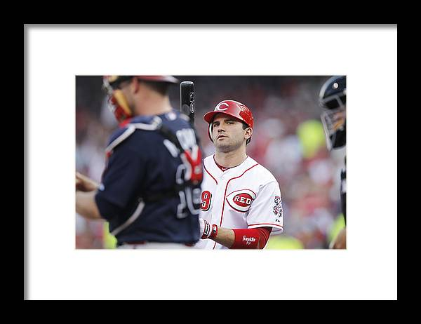 Great American Ball Park Framed Print featuring the photograph Atlanta Braves v Cincinnati Reds by Joe Robbins