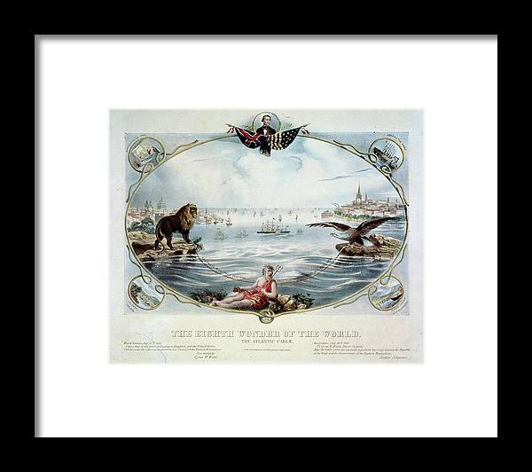 1866 Framed Print featuring the painting Atlantic Telegraph Cable by Granger