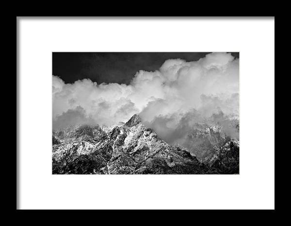 Black And White Framed Print featuring the photograph Atmospheric Chaos by Danny Vaughn