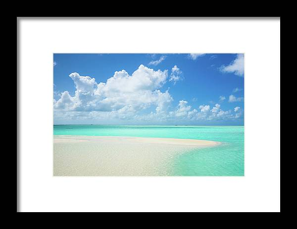 Seascape Framed Print featuring the photograph Atoll Lagoon Sand Bank Turquoise Clear by Mlenny