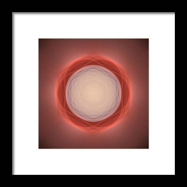Atom Framed Print featuring the digital art Atome-03 by RochVanh