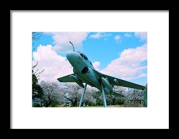 Atsugi Framed Print featuring the photograph Atsugi Prowler N by Jay Mann