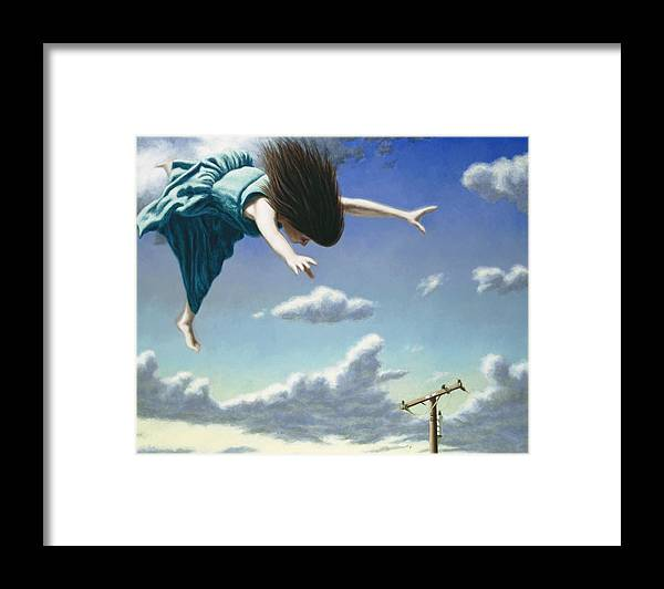 Dreams Framed Print featuring the painting Attempts at Flight #19 by David Palmer