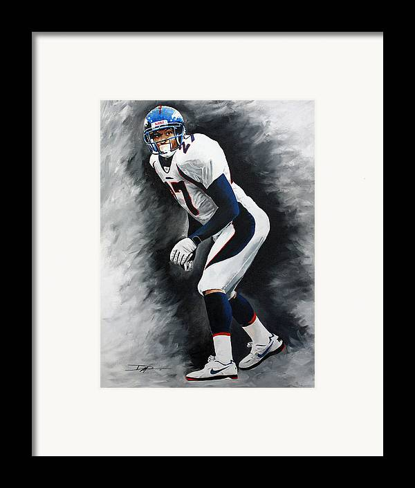Steve Atwater Framed Print featuring the drawing Atwater by Don Medina