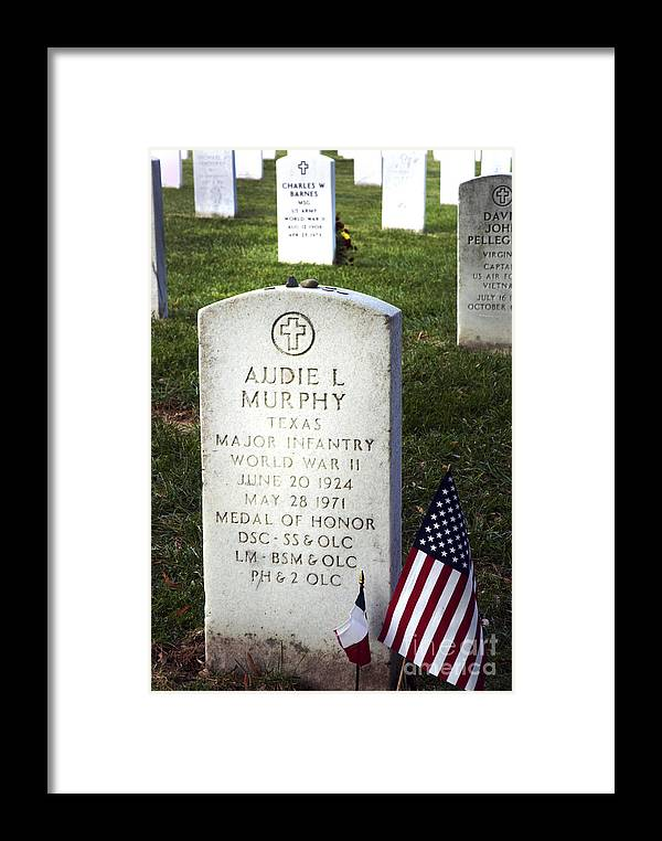 Audie Murphy Framed Print featuring the photograph Audie Murphy - Most Decorated by Paul W Faust - Impressions of Light