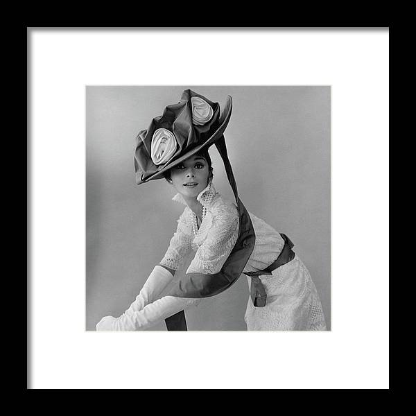 Actress Framed Print featuring the photograph Audrey Hepburn In Costume For My Fair Lady by Cecil Beaton