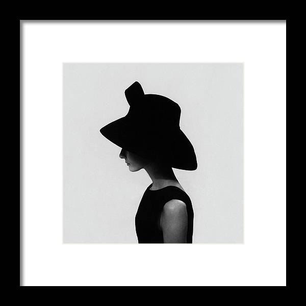 Accessories Framed Print featuring the photograph Audrey Hepburn Wearing A Givenchy Hat by Cecil Beaton