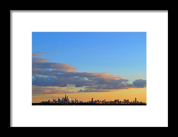 Abstract Framed Print featuring the photograph August Early Evening Toronto 4 by Lyle Crump