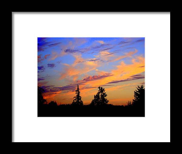 August Sunset Framed Print featuring the photograph August sunset by Lisa Rose Musselwhite