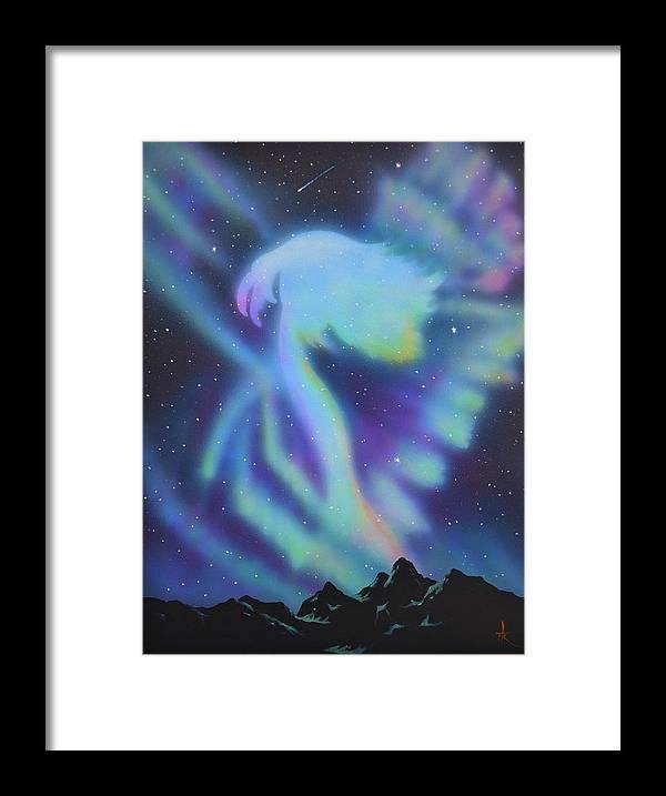 Aurora Borealis Framed Print featuring the painting Aurora Borealis 1 by Thomas Kolendra