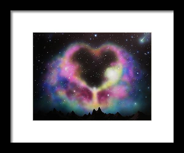 Aurora Borealis Framed Print featuring the painting Aurora Borealis The Blessing by Thomas Kolendra