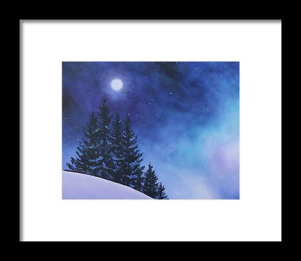 b7cdb8ffa49 Aurora Borealis Winter Framed Print by Cecilia Brendel