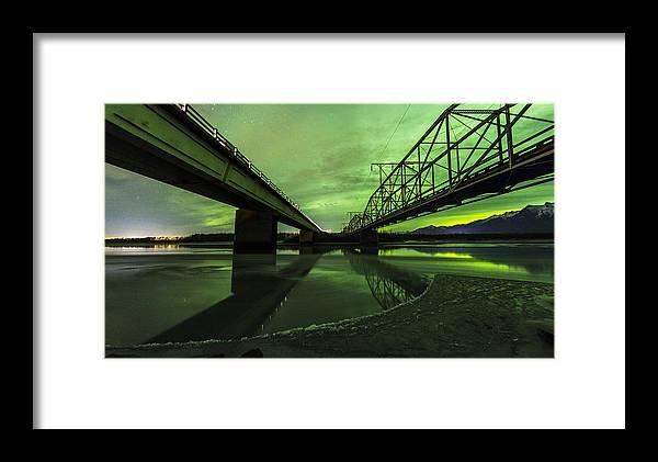 Alaska Framed Print featuring the photograph Aurora Bridge by Kyle Lavey