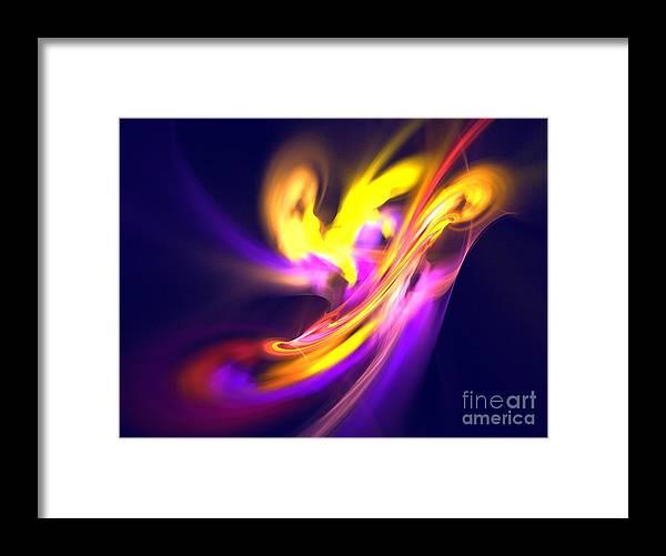 Apophysis Framed Print featuring the digital art Aurora by Kim Sy Ok