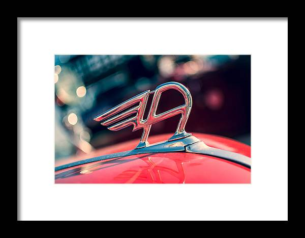 Austin Framed Print featuring the photograph Austin Truck Classic Badge by Photo Proyectolabs