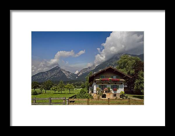 Austria Framed Print featuring the photograph Austrian Cottage by Debra and Dave Vanderlaan