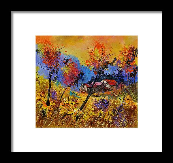 Landscape Framed Print featuring the painting Autumn 884101 by Pol Ledent