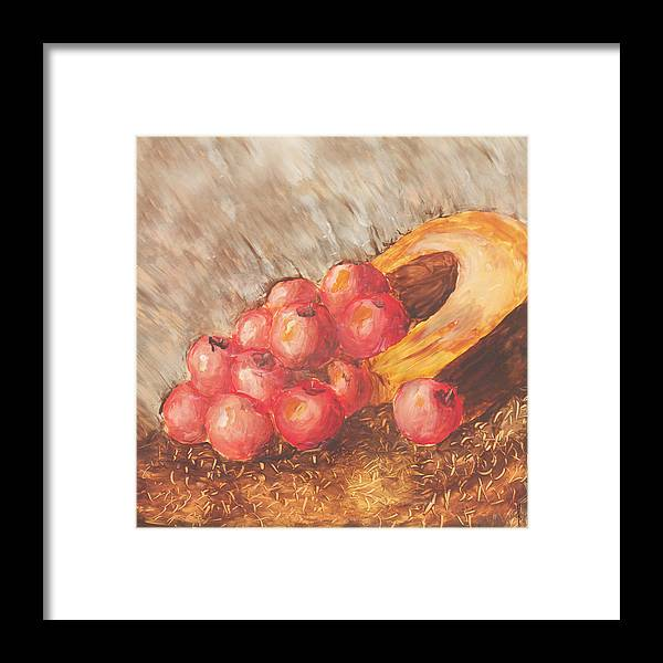 Apples Framed Print featuring the painting Autumn Apples by Jacob Cane