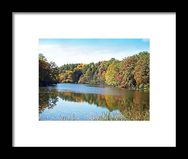 Durand Eastman Park Framed Print featuring the photograph Autumn At Durand by Aimee L Maher ALM GALLERY