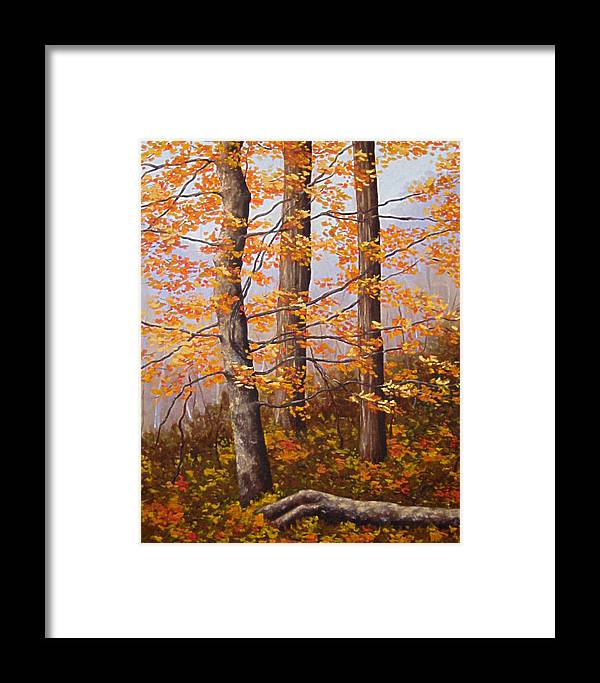 Autumn Framed Print featuring the painting Autumn At Tishomingo State Park by Darla Brock