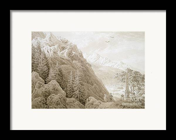 Landscape Framed Print featuring the painting Autumn by Caspar David Friedrich