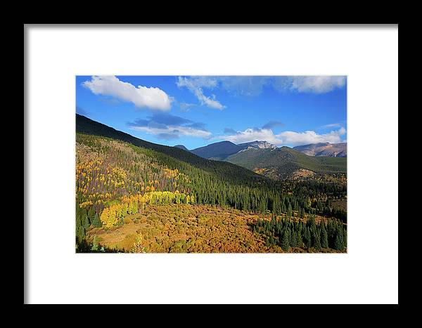 Scenics Framed Print featuring the photograph Autumn Color In Colorado Rockies by A L Christensen