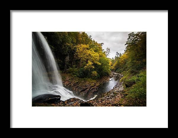 Waterfall Framed Print featuring the photograph Autumn Flow by Serge Skiba