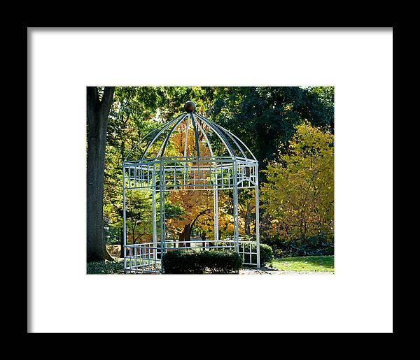 Tacoma Washington Framed Print featuring the photograph Autumn Gazebo by Tikvah's Hope