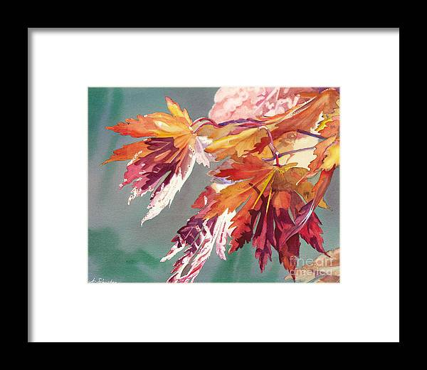 Autumn Glory Framed Print featuring the painting Autumn Glory by Amanda Schuster