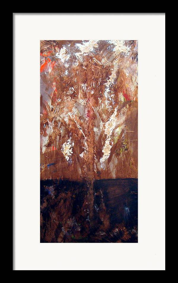 Autumn Framed Print featuring the painting Autumn by Holly Picano