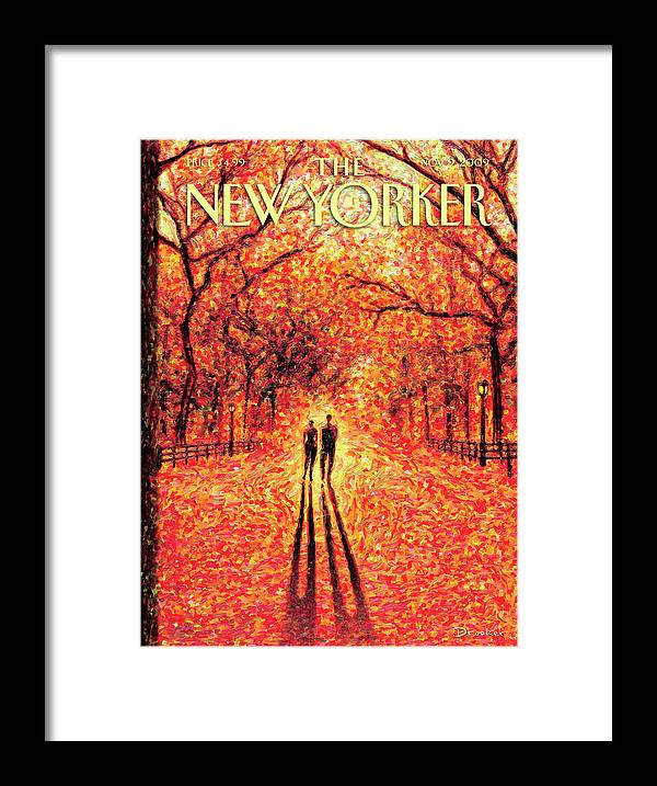 Nature Framed Print featuring the painting Autumn In Central Park by Eric Drooker