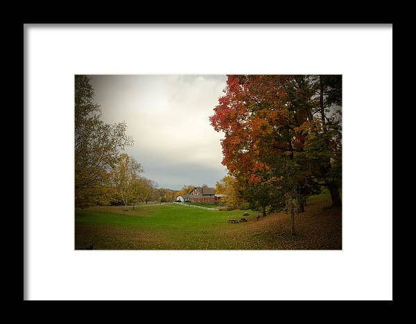 Autumn In Connecticut Framed Print featuring the photograph Autumn In Connecticut. by Nestor m Montanez