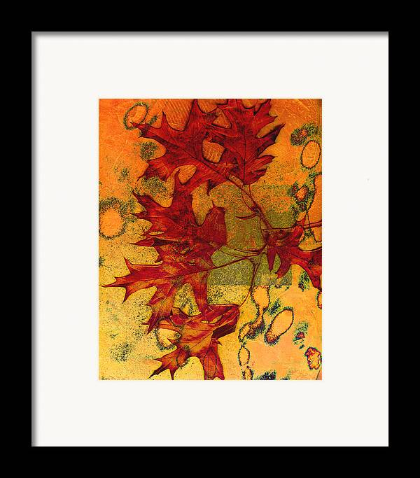 Autumn Leaves Framed Print featuring the photograph Autumn Leaves by Ann Powell