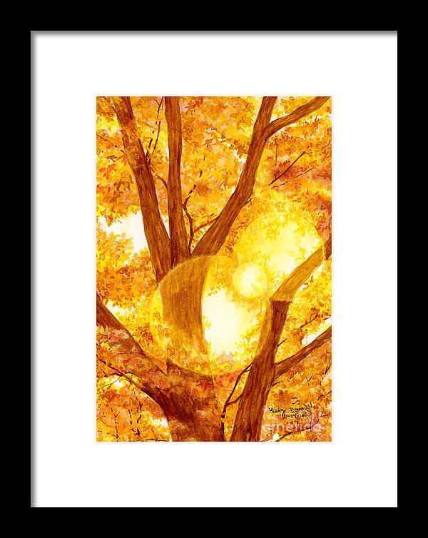 Tree Framed Print featuring the painting Autumn Light by Hailey E Herrera