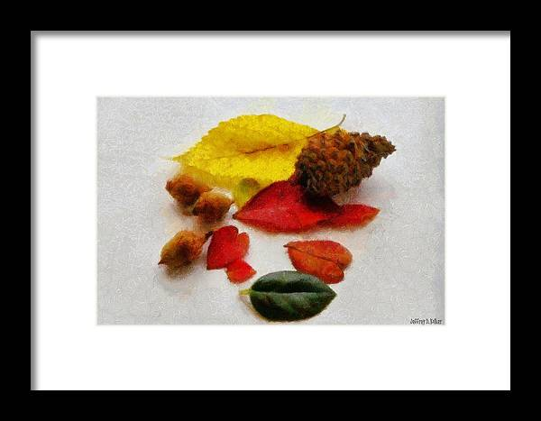 Acorn Framed Print featuring the painting Autumn Medley by Jeffrey Kolker