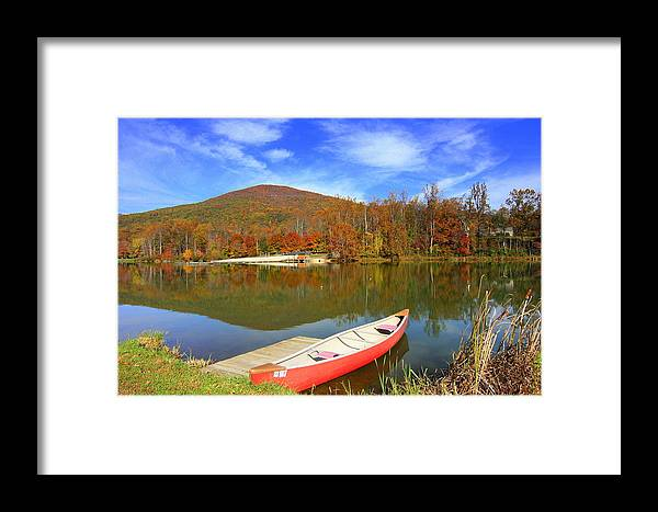 Framed Print featuring the photograph Autumn Morning 2 by Anne Barkley