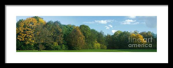 Nature Framed Print featuring the photograph Autumn Panorama 3 by Rudi Prott