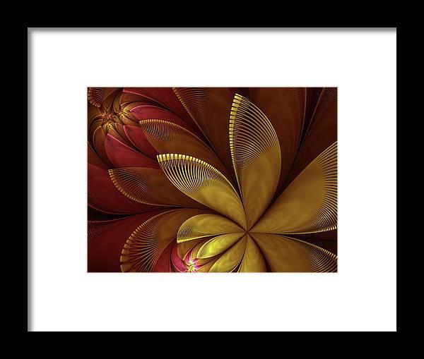 Flower Framed Print featuring the digital art Autumn Plant by Gabiw Art
