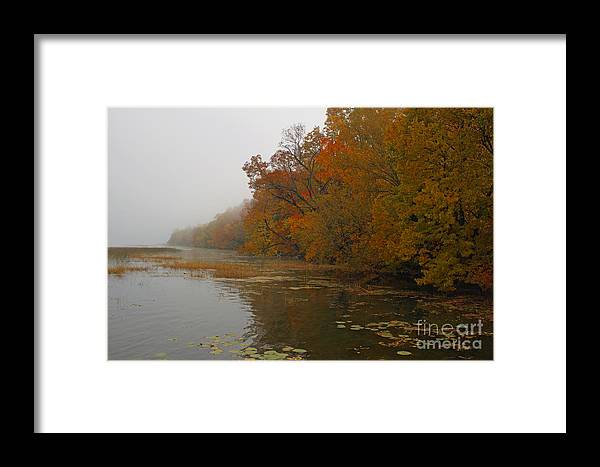 Lake Framed Print featuring the photograph Long Lake In Autumn by Kent Taylor