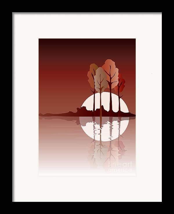 Art Framed Print featuring the digital art Autumn Reflected by Jane Rix