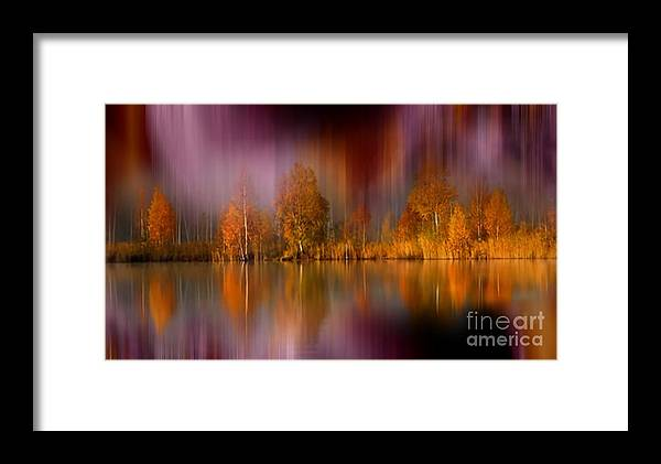 Autumn Reflection Framed Print featuring the photograph Autumn Reflection Digital Photo Art by Heinz G Mielke
