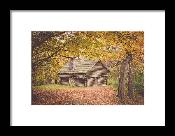 Cabin Framed Print featuring the photograph Autumn Retreat by Sara Frank