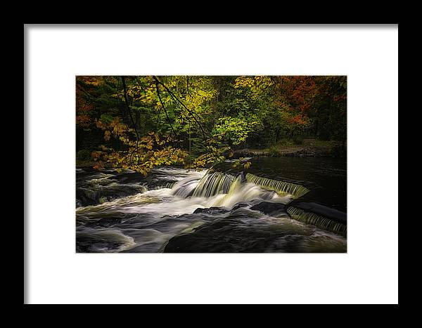 Fall Framed Print featuring the photograph Autumn River by Kevin Clifford
