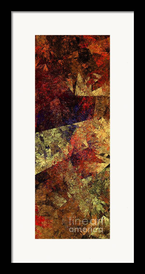 Abstract Framed Print featuring the digital art Autumn Road by Andee Design