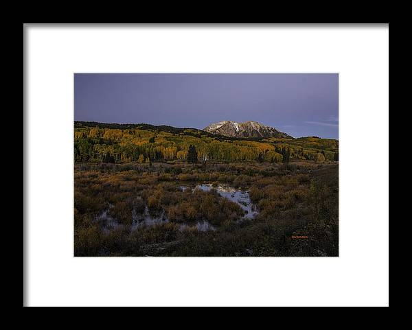 Autumn Landscape Framed Print featuring the photograph Autumn Serenity by Bill Sherrell