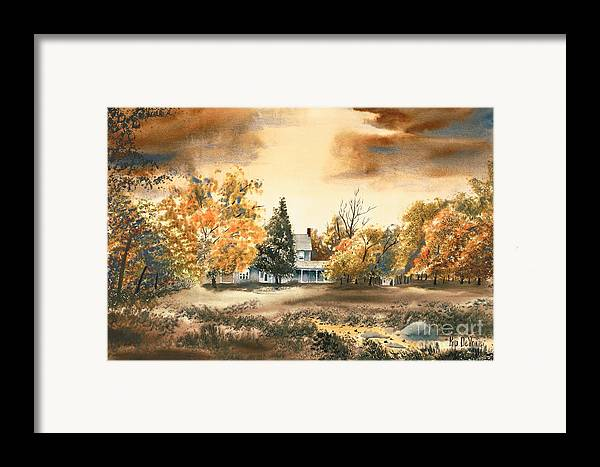 Autumn Sky No W103 Framed Print featuring the painting Autumn Sky No W103 by Kip DeVore
