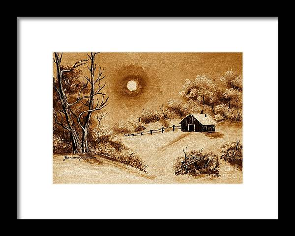 Autumn Snow Framed Print featuring the painting Autumn Snow by Barbara Griffin